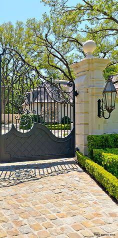 Custom wrought iron entry gate