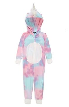 PJ Salvage Unicorn Fitted One-Piece Pajamas (Little Girls & Big Girls) Girls Fashion Clothes, Kids Outfits Girls, Cute Outfits For Kids, Cute Casual Outfits, Girl Outfits, Cute Pjs, Cute Pajamas, Girls Pajamas, Unicorn Fashion