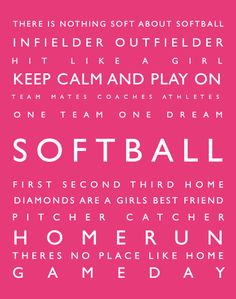 Hey, I found this really awesome Etsy listing at https://www.etsy.com/listing/168690746/sports-decor-softball-personalized