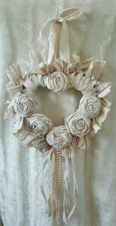 Cream heart cream rag wreath heart shabby by Chiclaceandpearls 7 Capable Tips: Shabby Chic Garden Jars shabby chic table doilies. 3 Successful Tips AND Tricks: Shabby Chic Office Window Frames contemporary shabby chic living room. A cottage chic heart. Shabby Chic Salon, Shabby Chic Pink, Jardin Style Shabby Chic, Tables Shabby Chic, Shabby Chic Bedroom Furniture, Shabby Chic Living Room, Shabby Chic Interiors, Shabby Chic Bedrooms, Shabby Chic Kitchen
