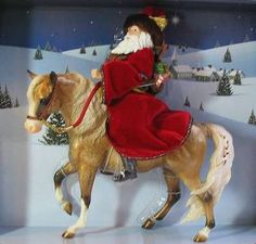 Father Christmas and Glittery - Breyer Special Run Holiday Horse 2004
