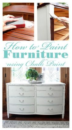 How to Paint Furniture using Chalk Paint Shelf Makeover, Chair Makeover, Furniture Makeover, Bookcase Makeover, Deck Makeover, Mirror Makeover, Paint Furniture, Home Furniture, Furniture Stores