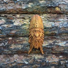 Original Carving Wizard Wood Spirit Ooak Hobbit Viking by Scott Longpre
