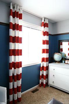 IHeart Organizing: Preston's Bedroom Update: Seeing Orange Stripes