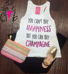Champagne & Shoes make me happy.. especially Pons! 😍  Articles Of Society $74 Zip Pouch $18 Top $24 Pons $85   ☎️ 210-824-9988
