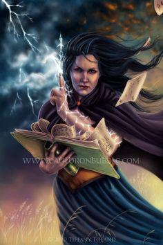 8x10 Calling the Storm - witch fantasy art print. $15.00, via Etsy.
