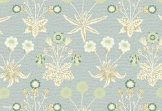 Vintage illustration of Daisy inspired by William Morris. | free image and vector by rawpixel.com William Morris Patterns, Vintage Patterns, Free Images, Create Your Own, Cool Designs, Daisy, Antiques, Awesome, Amazing