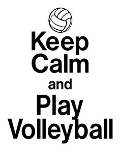 Keep Calm & Play Volleyball Iron On Tshirt by StickySideDownVinyl, $8.50