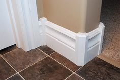 Nice alternative to cutting fussy mitered corners on baseboards with bullnose corners.