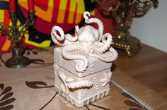 This octopus box is somewhat inspirational for me in providing other ideas for clay boxes.