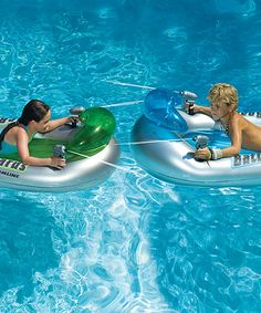 Wish we hadma pool this would be so much fun! Take a look at this Battleboards Water Squirter Float Set by Swimline on today! Inflatable Pool Toys, Inflatable Float, Summer Pool, Summer Fun, Pool Fun, Summer Time, Beach Pool, Battle Boats, Living In London