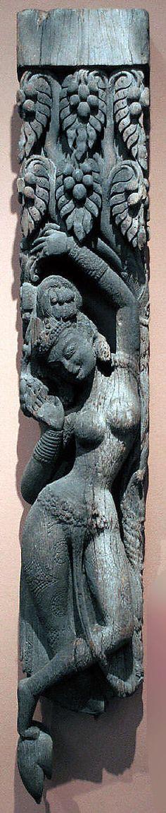 Temple Strut with a Tree Goddess (Shalabhanjika)12th–13th century Nepal (Kathmandu Valley)