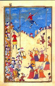 Miniaturuist Levni, The Surname, 18. century (festival circus and the acrobat)