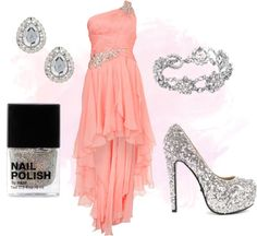 Your time to Shine  New Prom Ideas Each day :)  $190 NEWLOOK.COM Forever Unique Coral One