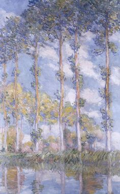 The Poplars...Claude Monet. Love the colors!