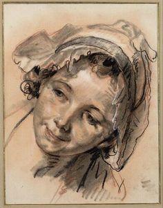 Jean-Baptiste Greuze | Kopfstudie eines lächelnden Mädchens -  Head of a Smiling Girl | 1765 | © Albertina, Wien