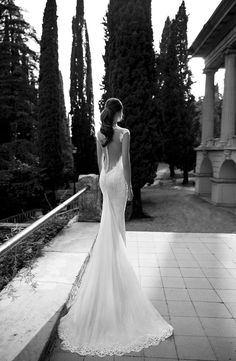 pearl back wedding dress by Berta Bridal