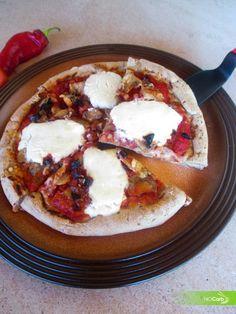 NoCarb Noodle - szénhidrátmentes receptek - Gombás baconos pizza
