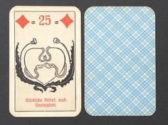 Antique 1930's Lenormand Fortune Telling Oracle Cards Deck Vtg Germany. 36 cards.