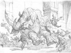 Prescott Draw-Blog: Some Ravnica Under-Drawings