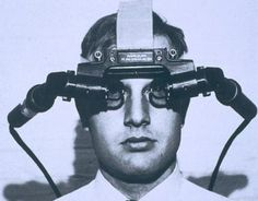 """The Sword of Damocles head-mounted display. """"The ultimate display would, of course, be a room within which the computer can control the existence of matter,"""" Sutherland wrote in his 1965 essay. [Augmented Reality: http://futuristicnews.com/tag/augmented-reality/]"""