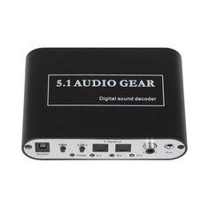 Digital Audio Decoder 5.1 Audio Gear DTS/AC-3/6CH Audio Converter LPCM To 5.1 Analog Output 2.1