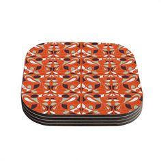 Kess InHouse Miranda Mol ' Swirl Kiss' Coasters