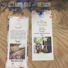 custom rack card designs for @floradora_flint and @emflowerflint farm. if interested in custom design email info@alloraartanddesign.com.  ------------------------------------------------- #flint #floradora #floral #flowers #michigan #design #alloraartanddesign