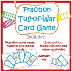 This is a fraction card card game that really helps students to use equivalent fractions and compare fractions to get the larger value. The players...