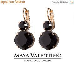 Rose Gold earring Swarovski  earrings Classic by MayaValentino