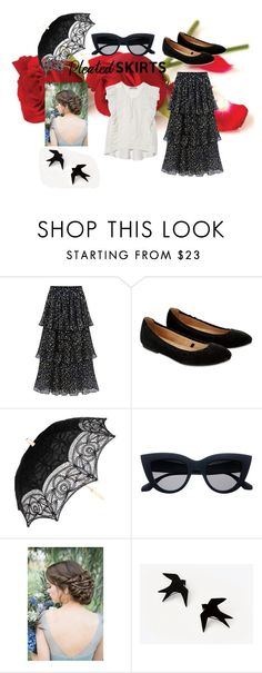 """#pleatedskirts"" by petra-blefluf ❤ liked on Polyvore featuring St. Roche, Accessorize and pleatedskirts"