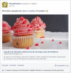 Cupcakes almendras y buttercream de merengue suizo de frambuesa