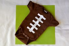 Football DIY baby Onesie made using heat transfer and my Silhouette