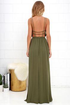 Lost in Paradise Olive Green Maxi Dress 11 Grad Dresses 177d95d96