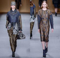 beautifully embellished neckline Sacada 2014 Winter Southern Hemisphere Womens Runway Collection - Fashion Rio Brazil Moda Brasileira - Inverno 2014 Mulheres Desfiles - Indi...