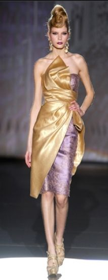 Efertis Saten Vestido de Fiesta  Hannibal Laguna