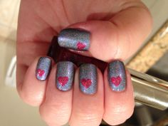 Valentines Day Manicure featuring AEngland Dancing with Nureyev and AEngland Briar Rose