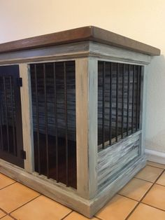 Wood dog kennel, handmade