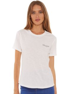 Chain Tee in White