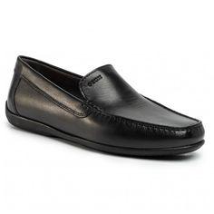 Mocasini GEOX - U Ascanio A U020WA 00043 C9999 Black - Mocasini - Pantofi - Bărbați | epantofi.ro Men Dress, Dress Shoes, Loafers Men, Oxford Shoes, Textiles, Black, Interior, Products, Fashion