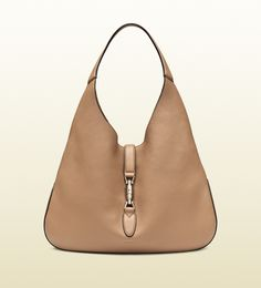 Gucci Jackie Beige Soft Leather Hobo; $2,990.00