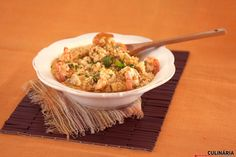 Receita de Arroz de tamboril e camarão. Descubra como cozinhar Arroz de tamboril e camarão de maneira prática e deliciosa com a Teleculinária!