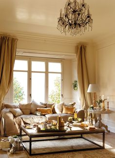 dustjacket attic: Interiors | Cream & Gold With A Festive Touch
