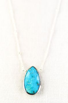 Kanae necklace  turquoise necklace sterling by kealohajewelry, $84.00