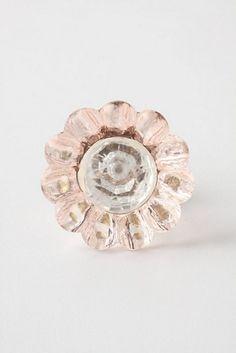 Daisy Knob, Pink modern knobs