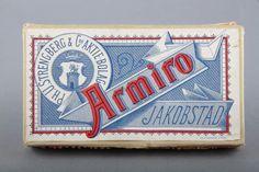 Forssan museo. Strengbergin tupakkatehtaan Armiro - savukerasia.