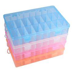 2.67$ (Buy here: http://alipromo.com/redirect/product/olggsvsyvirrjo72hvdqvl2ak2td7iz7/32545581373/en ) New Practical Adjustable Plastic 24 Compartment Storage Box Case Bead Rings Jewelry Display Organizer 25UY for just 2.67$