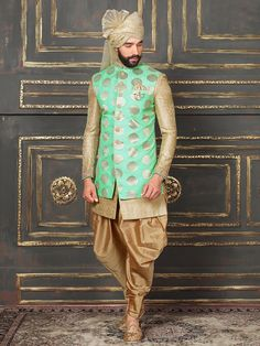 35 Latest Kurta Pajama Designs For Wedding Ethnic Dhoti Kurta Dress For Groom Sherwani Groom, Mens Sherwani, Wedding Sherwani, Punjabi Wedding, Groom Outfit, Groom Dress, Kurta Designs, Pathani Kurta, Indian Groom Wear