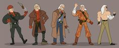 Metal Gear Solid's Cast, Redrawn As Cartoon Characters