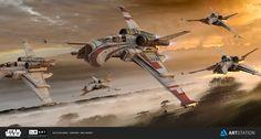 ArtStation - Incom T-42 - ILM Challenge ' The Ride', Paul Massey